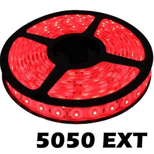 Tira de led roja 5050 para exterior ip65  5 metros