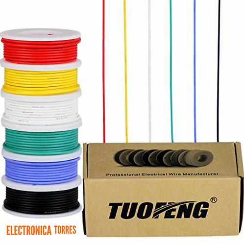 Cable AMARILLO #22 para conexiones 10mt