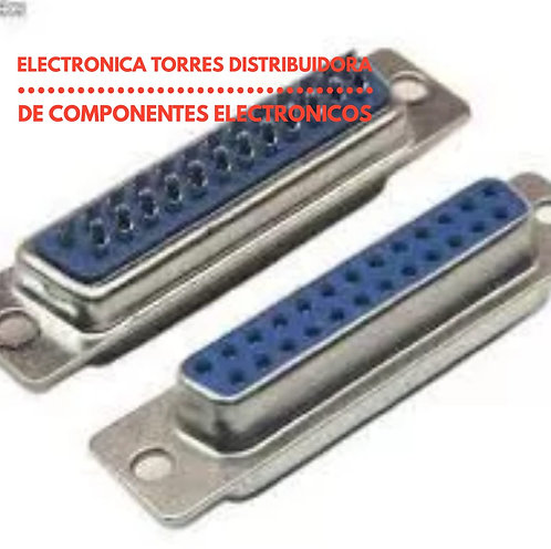 Conector db25 hembra 25 pines