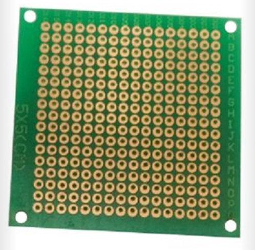 Placa fenolica 5x5 color verde