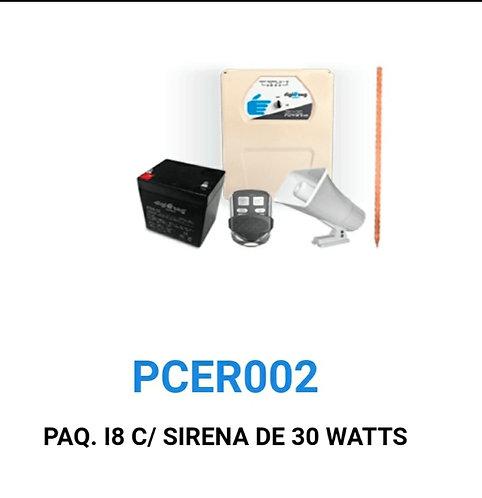 Kit energizador para malla electrificada/bateria/sirena