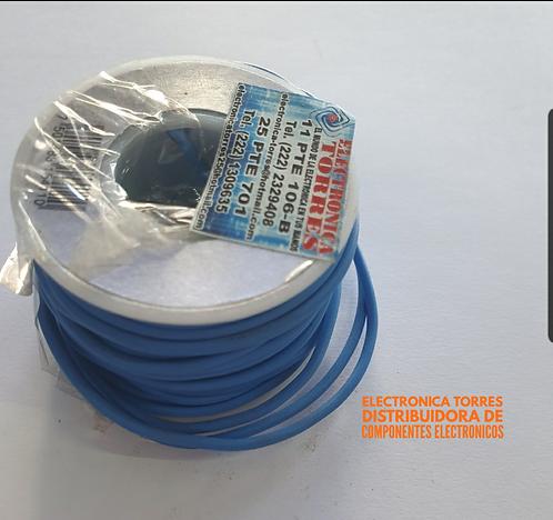 Rollo de alambre azul 10 mt #22