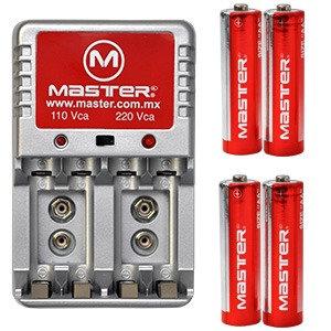 cargador de baterias AA, AAA Y 9V MASTER
