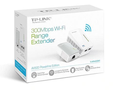 EXTENSOR DE RANGO TP-LINK TL-WPA4220 STARTER KIT POWERLINE INALAMBRICO A 300MBS