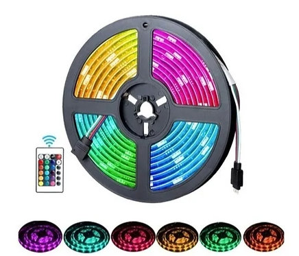 Tira de LED RGB con Controlador y eliminador 12v