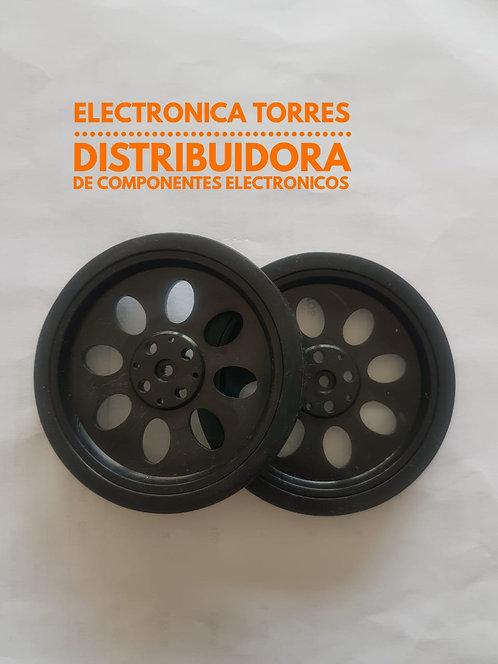 Rueda 70x11mm para motoreductor