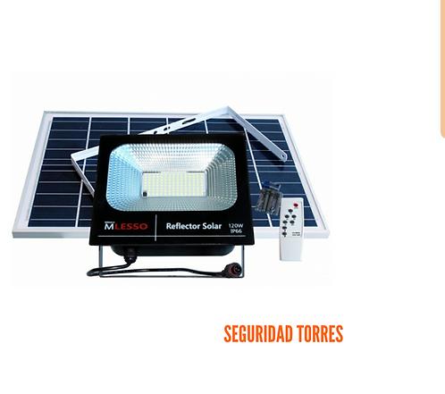 Reflector 120watt con celda solar