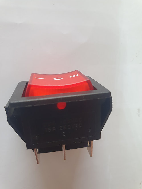 Switch iluminado ON-OFF-ON 6 pin 20A 125v SW-147
