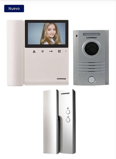 COMMAX CDV43K2DRC40KPAQ - Paquete con monitor de 4.3 pulgadas / Frente de calle