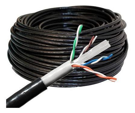 Cable cat 5E utp 8 hilos 100% cobre para exterior doble forro
