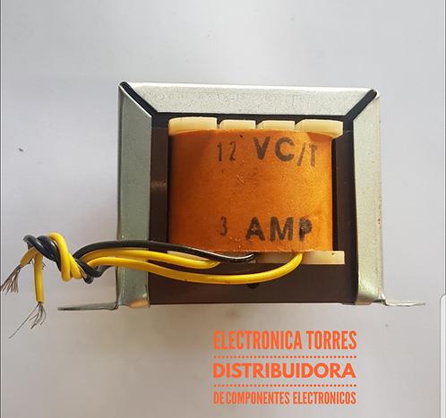 Transformador 12v 3 amp Ac