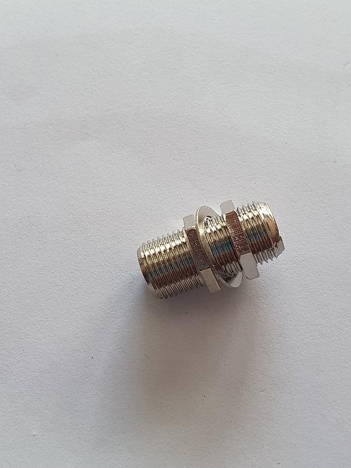 Conector cople doble hembra F CN-281