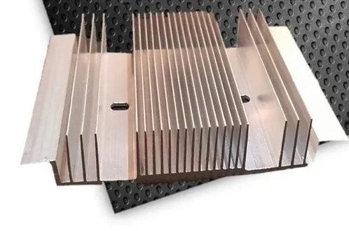 Disipador de calor grande 100%aluminio 23 aletas 120x100x25mm
