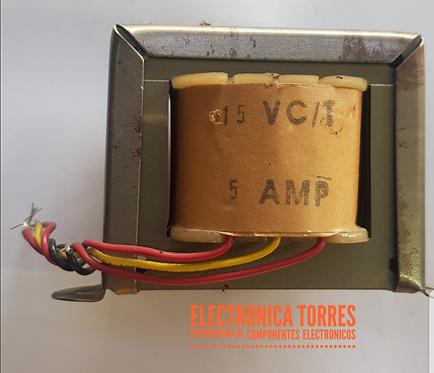 Transfirmador 15v 5 amp AC
