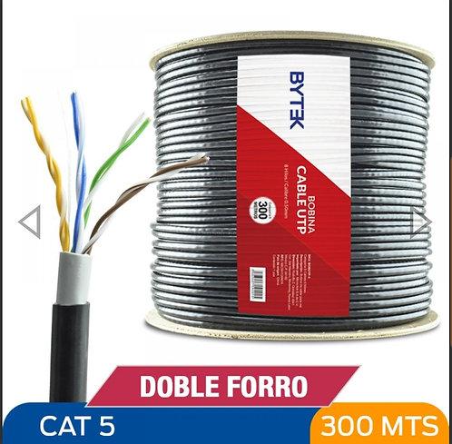 Bytek Bobina cable UTP Doble forro Cat 5 - 300 metros