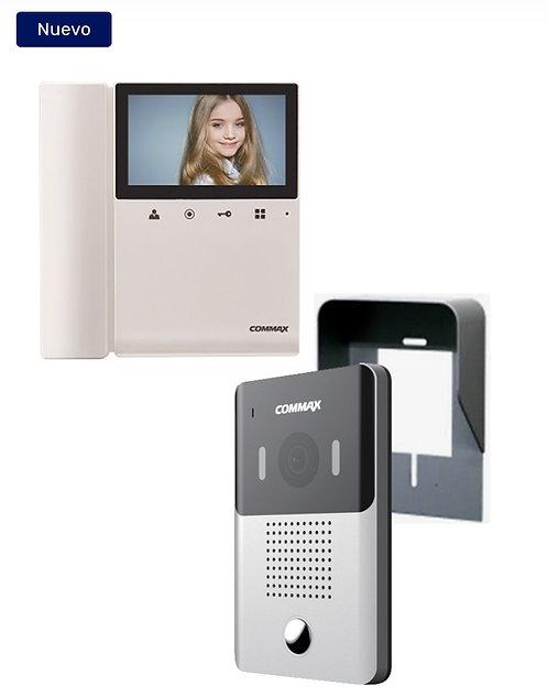 COMMAX DRC4YPACK - Paquete de videoportero frente de calle DRC4Y con cubierta d