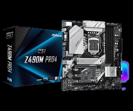 ASROCK Z490M PRO4 INTEL Z490 L1200 DDR4 SATA3 M.2  mATX MB