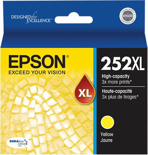 EPSON 252XL YELLOW INK CARTRIDGE T252XL420