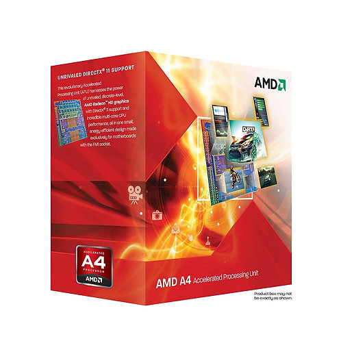 AMD-A4 X2 3300 2.5GHz 1MB 100W FM1 AD3300OJHXBOX CPU