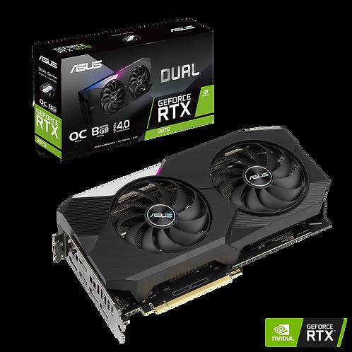 ASUS Dual GeForce RTX 3070 DUAL-RTX3070-O8G 8GB 256-Bit DDR6 (NON-LHR) VGA