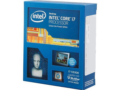 INTEL Ci7-5930K BX80648I75930K 3.7GHz 15M 2011 6CORE 12 THREADS BOX CPU