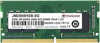 DDR4-2666 8G CL19 TRANSCEND SODIMM JM2666HSB-8G