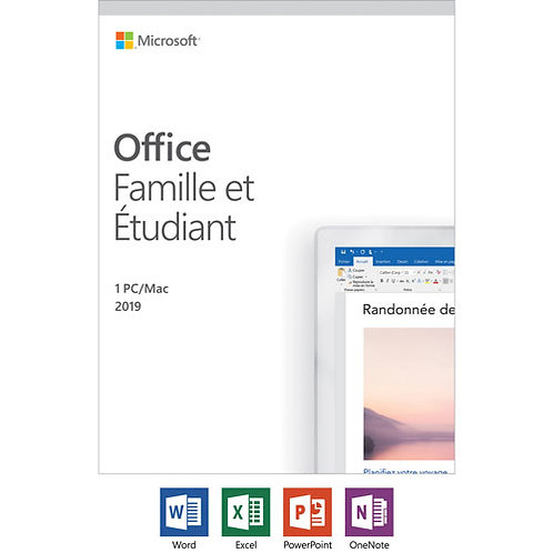 MS OFFICE 2019 H&S 1PC/MAC PKC FRENCH #79G-05027