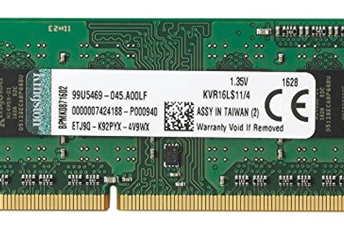 DDR3-1600 4G KINGSTON SODIMM #KVR16LS11/4 LOW PWR