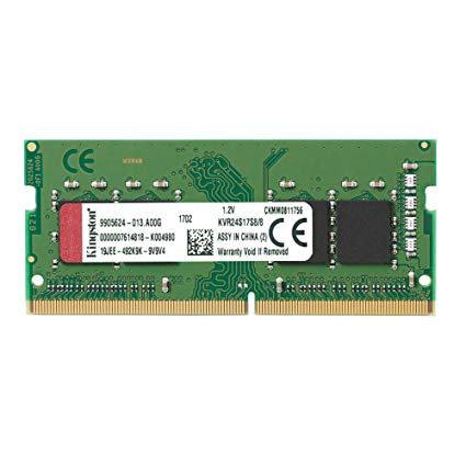 DDR4-2400 8G KINGSTON NONECC CL17 KVR24S17S8/8 SODIMM