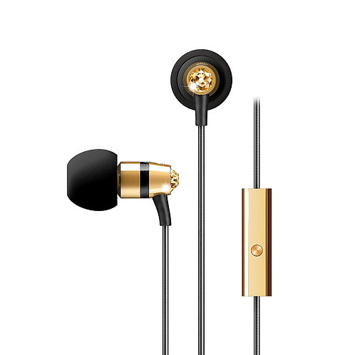 MEE M11J IN-EAR HEADPHONES W/ SWAROVSKI CRYSTALS - GOLD