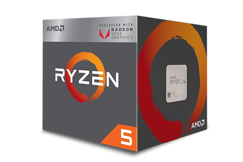 AMD-RYZEN 5 2400G AM4 3.6 GHZ/3.9 GHZ 4 CORES YD2400C5FBBOX