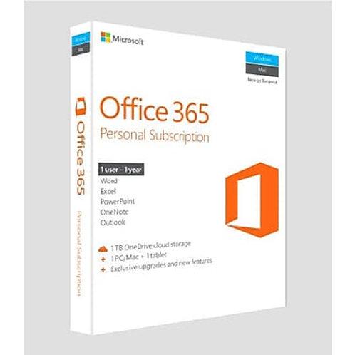 MS OFFICE 365 PERSONAL 1YR 1 USER PC/MAC ENG QQ2-00597