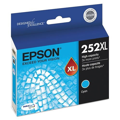 EPSON 252XL CYAN INK CARTRIDGE T252XL220