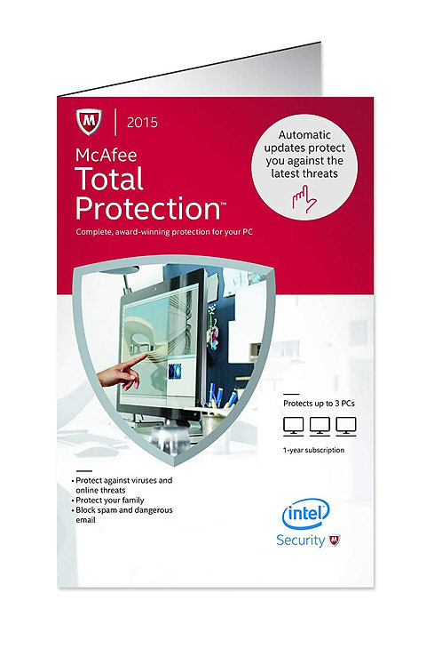 MCAFEE TOTAL PROTECTION 2015 MTP15ZBF3RAA 3 USER FLAT PACK