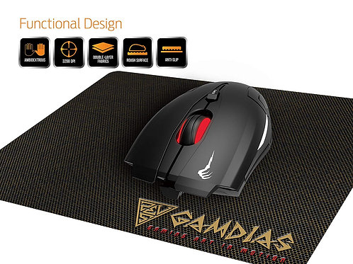 GAMDIAS MOUSE DEMETER E1 OPTICAL GAMING W/MOUSE PAD COMBO