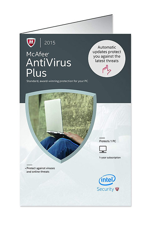 MCAFEE ANTI VIRUS PLUS 2015 MAV15ZBB1RAA 1 USER