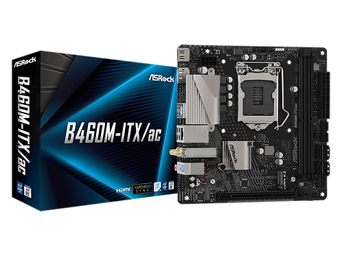 ASROCK B460M-ITX/AC INTEL B460 L1200  SATA3 M.2 USB 3.2 MINI ITX MB