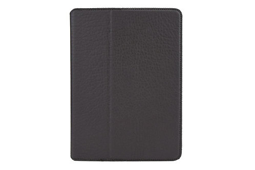 AMBERCNE LEATHER TABBY FOLIO CASE FOR IPAD AIR 2 BLACK