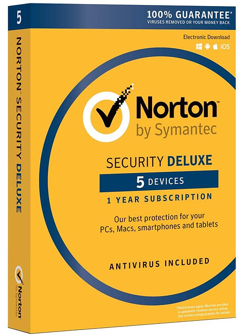 NORTON SECURITY DELUXE 3.0 5 DEVICE -PC/MAC/PHONE/TABLET- 1 YR #21360148