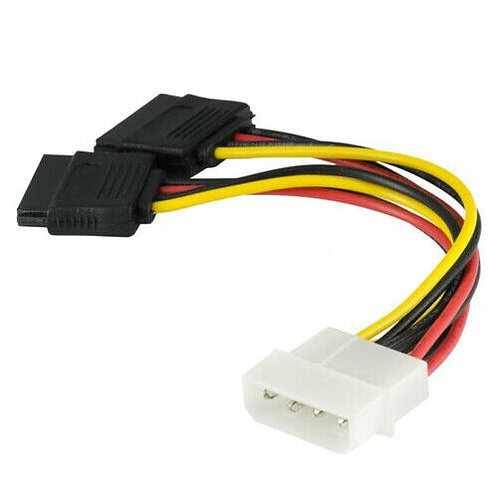 CABLE 4PIN IDE TO SATA (1 TO 2)