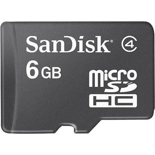 MICRO SDHC 6G SANDISK W/SD ADP, USB ADP SDSDQ-6144-A11M
