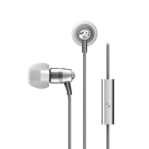 MEE M11J IN-EAR HEADPHONES W/ SWAROVSKI CRYSTALS - SILVER