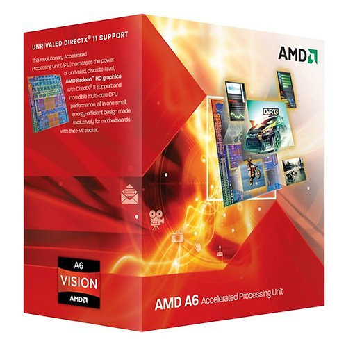 AMD-A6 X3 3500 2.1/2.4GHz 3MB 65W FM1 AD3500OJGXBOX CPU