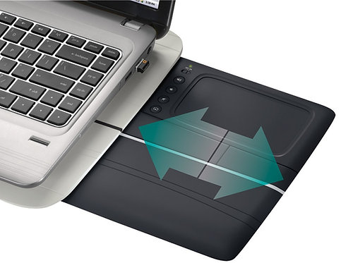 LOGITECH TOUCH LAPDESK N600 WITH RETRACTABLE MULTI-TOUCH TOUCHPAD