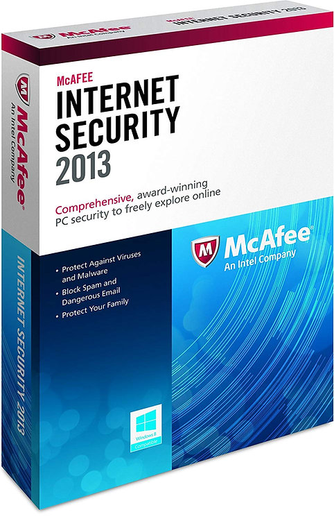 MCAFEE INTERNET SECURITY 2013 FLAT PACK 1 USER