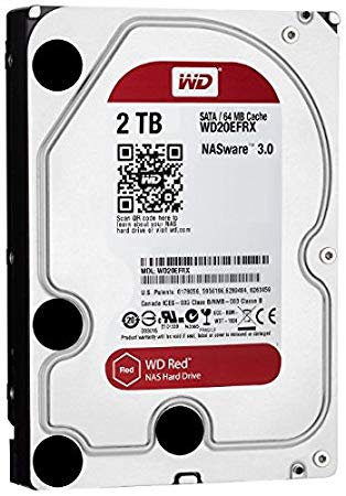 """HDD 2TB WD 3.5"""" WD20EFRX RED SATA/600 64MB RED"""