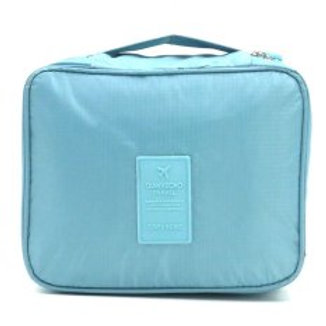 QIANYECAO TRAVEL POUCH PASTAL BLUE