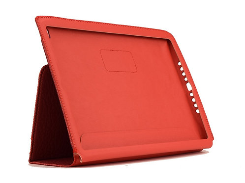 AMBERCNE LEATHER TABBY FOLIO CASE FOR IPAD AIR 2 RED