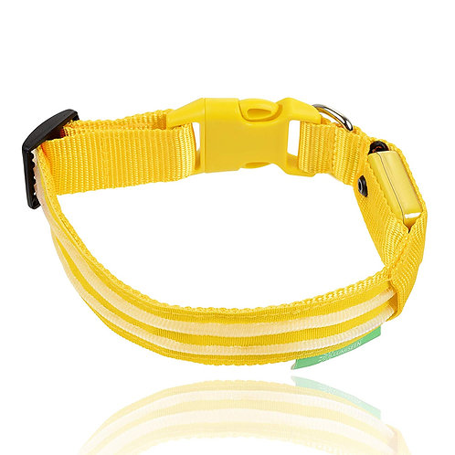 LED DOG COLLAR YELLOW