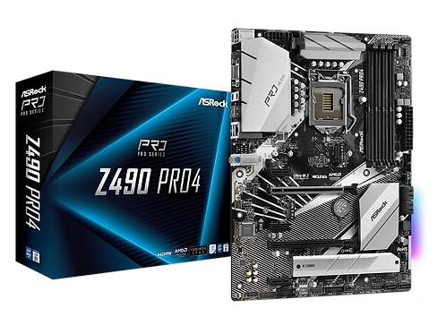 ASROCK  Z490  PRO4 INTEL Z490 L1200 DDR4 SATA 6Gb/s ATX MB